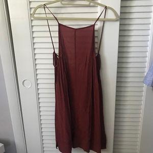 Intimately Red/Orange Slip Dress